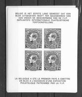 Internationale Filatelistische Tentoonstelling * *  Postfris Zonder Scharnier - Black-and-white Panes