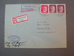 Pegau Landpost  Adolf Cv. 1944 Leipzig - Lettres & Documents