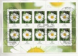 1 Er Jour 07.04.2005-Fleur,série Courante.Kleinbogen. - Gebruikt