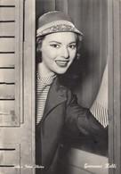ATTRICE CINEMA-=GIOVANNA RALLI-CARTOLINA VERA FOTOGRAFIA-VIAGGIATA IL 17-9-1960 - Actors