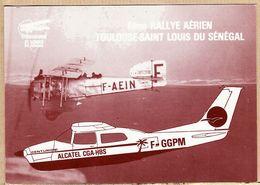 X31235 TOULOUSE Saint  LOUIS SENEGAL 6e RALLYE AERIEN CESSNA MÔRCH BLANDY PINCHINAT - Avion BREGUET 14 Cpavion - Toulouse
