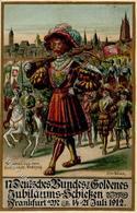 FRANKFURT/MAIN - 17.DEUTSCHES BUNDESSCHIESSEN 1912 - Künstlerkarte Sign. Alfr. Block - I - Waffenschiessen