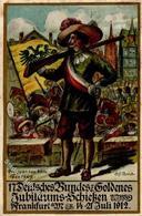 FRANKFURT/MAIN - 17.DEUTSCHES BUNDESSCHIESSEN 1912 - Künstlerkarte Sign. Alfr. Block - Kl. Einriß III - Waffenschiessen