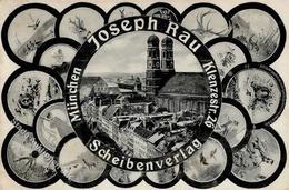 Schützen München (8000) Der Scheibenverlag Joseph Rau  Werbe AK 1907 I-II - Waffenschiessen