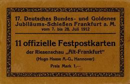 Schützenfest Frankfurt (6000) 17. Deutsches Bundes U. Goldenes Jubiläums Schießen Postkartenheft Mit 11 Festpostkarten 1 - Waffenschiessen