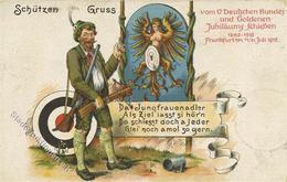 Schützenfest Frankfurt (6000) 17. Deutsches Bundes U. Goldenes Jubiläumsschießen 1912 I-II - Waffenschiessen