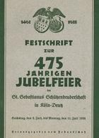 Schützenfest Köln-Deutz (5000) Festschrift Zur 475 Jährigen Jubelfeier 1938 Hrsg. Festausschuss 48 Seiten Diverse Abbild - Waffenschiessen