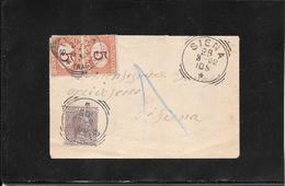 Italia ,Siena 1902 Marca Da Bollo Usata Per Posta, Cat.Sass.n° 9 ( Ref 4055) - 1900-44 Vittorio Emanuele III