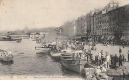 Rare Cpa Toulon Embarquement Des Provisions Pour L'escadre - Toulon