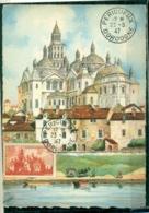 CM-Carte Maximum Card # France-1947 # (Yv.N° 774) Architecture # Cathédrale Saint-Front, Périgueux  23.8..47 (Edit. BD) - 1940-49