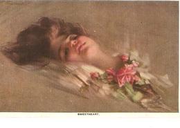 """Lady. Sweetheart"" Nice Vintage American Postcard. Artist Signed - Femmes"
