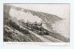 DUBLIN:  WICKLOW  & WEXFORD  RAILWAY  -  ROUNDING  BRAY  HEAD  -  FP - Trains