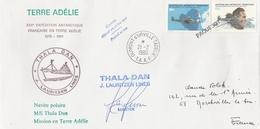 YT PA 35 +36 SUR LETTRE GRIFFE PAQUEBOT DUMONT D URVILLE 21/2/80 THALAN DAN LAURITZEN LINES POUR FRANCE - Brieven En Documenten