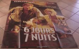 AFFICHE CINEMA ORIGINALE FILM 6 JOURS 7 NUITS REITMAN Harrison FORD Anne HECHE 1998 TBE - Posters