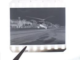 NEGATIVO FOTOGRAFIA ELICOTTERO SIKORSKY ELIPADANA EX SABENA OO-SHN A MILANO - Aviation