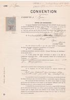 33-Convention  Entre Energie Electrique Du Sud-Ouest & Mlle Fourton..Izon..(Gironde) .1922 - Gesetze & Erlasse