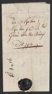 """Précurseur - LAC Datée De Berghen (1784) + Obl Linéaire Peu Lisible Et Port """"6"""" > Ipre (Ypres) / Cachet De Cire. - 1714-1794 (Pays-Bas Autrichiens)"""