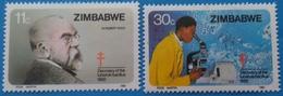 Zimbabwe 1982 Centenary Of Dr Robert Koch's Discovery Of TB Set MNH - Zimbabwe (1980-...)