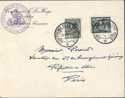 Enveloppe + Cachet + CAD Conférence De La Haye 1929 Délégation Française CAD 28 VIII 12  1 YT 135 + 138 Nederland - 1891-1948 (Wilhelmine)
