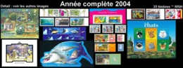 NOUV.-CALEDONIE Année Complète 2004 + BF (35 Tp NEUF ** MNH) : Yv. 909A à 936 + BF 31, 32 Et 33    ..Réf.NCE25754 - Años Completos