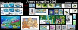 NOUV.-CALEDONIE Année Complète 2005 + BF (35 Tp NEUF ** MNH) : Yv. 937 à 967 + BF 34 Et 35    ..Réf.NCE25755 - Años Completos