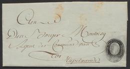 Précurseur - LAC Datée De Haesdonck (Haasdonk, 27 Messidor 5e Année) + Grand Cachet Noir > Rupelmonde - 1794-1814 (French Period)