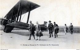 Arrivée Au Bourget De M. Krishnaji Et De M. Nytiananda - Aérodromes