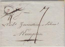 Schweiz/Bayern - Auslag St. Gallen Brief St. Gallen - Kempten 1813 - Mit Inhalt - Schweiz