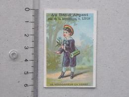 """LYON CHROMO Mini-format AU BAT D'ARGENT (Comptoir Des étoffes): """"Un Herboriseur En Herbe"""" BOTANISTE Enfant - Autres"""