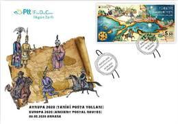 TURKEY / 2020 - (FDC) EUROPA CEPT (Historical Postal Roads), MNH - 1921-... Repubblica