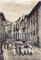 GUBBIO-PERUGIA- FESTA DEI CERI(15 MAGGIO SAN UBALDO)CARTOLINA VERA FOTOGRAFIA-VIAGGIATA IL 15-5-1957 - Perugia