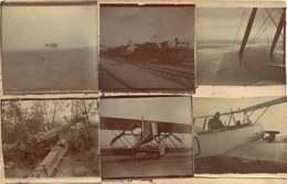 110520 - PHOTOS MILITARIA GUERRE 1914 18 - Aviation Avion Canon Aviateur Chemin De Fer - Guerra 1914-18