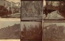 110520 - PHOTOS MILITARIA GUERRE 1914 18 - Soldats Poilus Mitraillette Marche Dans La Neige - Guerra 1914-18