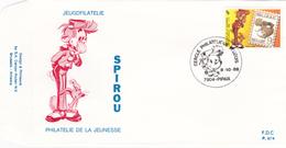 FDC - Spirou - Philatélie De La Jeunesse - B.D. - Timbre N° 2302 - Tampon Pipaix - FDC