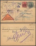 Belgique 1916 - Entier Postal Namur Vers Liège - Contre Remboursement - Censure - Stamped Stationery