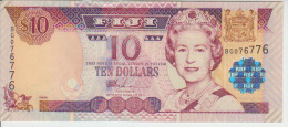Fiji 10 Dollar 2002 Pick 106 UNC - Fiji