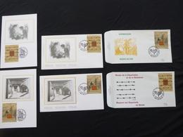 """BELG.1997 2682 & 2683  FDC & Mcard Soie/zijde & FDC :   """" Promotie Van De Filatelie - Museums """" - 1991-00"""