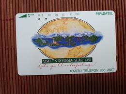 Phonecard 280 Units I Perumtel Ndonesia Used Rare - Indonesië