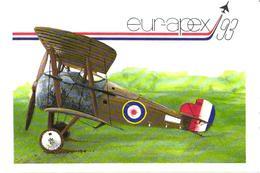 Airplane Sopwith Snipe, Advertising Card - 1946-....: Ere Moderne