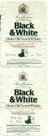 2 Etiketten / étiquettes Différentes Whisky Black & White 1984 + 1986 - Whisky