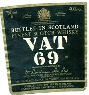 Oud Etiket / Ancienne étiquette Whisky Vat 69 - Whisky