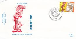 FDC - Spirou - Philatélie De La Jeunesse - B.D. - Timbre N° 2302 - Tampon Comines - FDC