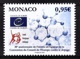 MONACO 2020 - CONSEIL DE L'EUROPE CONTRE LE DOPAGE - NEUF ** - Unused Stamps