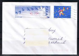 Atm, Lisa1, Oiseaux BLEU De Jubert, Pli +20g, Timbre 2.50 De L'ouverture Du Marché Unique Européen,+ 1.70 En Complément. - 1990 «Oiseaux De Jubert»