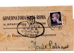GOVERNATORE DI ROMA 1943 - 4. 1944-45 Repubblica Sociale