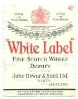 Oud Etiket / Ancienne étiquette Whisky White Label Dewar's - Whisky