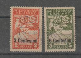 Italie Occupation Autrichienne Yvert 21-22 2 Val Oblit. Used - Austrian Occupation