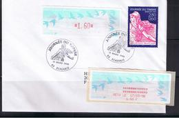Atm, Lisa1, Oiseaux TURQUOISE De Jubert, Pli +20g, FDC, Timbre 2.80+0.60 Semeuse, JOURNEE DU TIMBRE 1996 + 1.60 COMP. - 1990 «Oiseaux De Jubert»