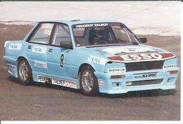 """PHOTO D'ARCHIVES : COURSE AUTOMOBILE - MONTLHERY 1986 -   """" PEUGEOT 505 TURBO  """" Pilote:  DORCHE - N° 8 - Montlhery"""