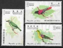 Taiwan, Republic Of China 1967 Birds, MNG, MI 640-642 - 1945-... Republic Of China